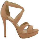 Schutz Twisted Strap Platform Sandals