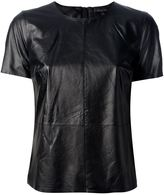 Rachel Zoe 'Janette' leather t-shirt