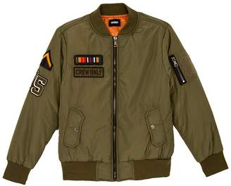 Hudson Jeans Military Patch Bomber Jacket (Big Boys)