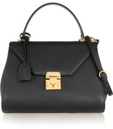 Mark Cross Hadley Small Textured-leather Tote - Black