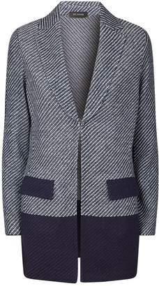St. John Contrast Knit Blazer