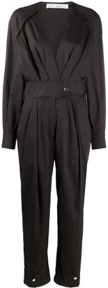 IRO V-neck belted jumpsuit
