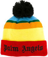 Palm Angels striped beanie - men - Acrylic - One Size
