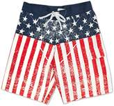 Calhoun USA American Flag Distressed Mens Boardshorts (Adult)