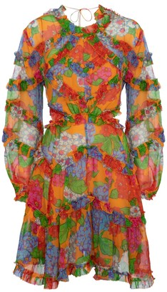 Zimmermann Riders floral silk georgette minidress