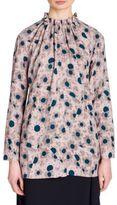 Marni Floral-Print Gathered Top