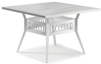 Eddie Bauer Echo Bay Aluminum Dining Table Frame Color: Satin White