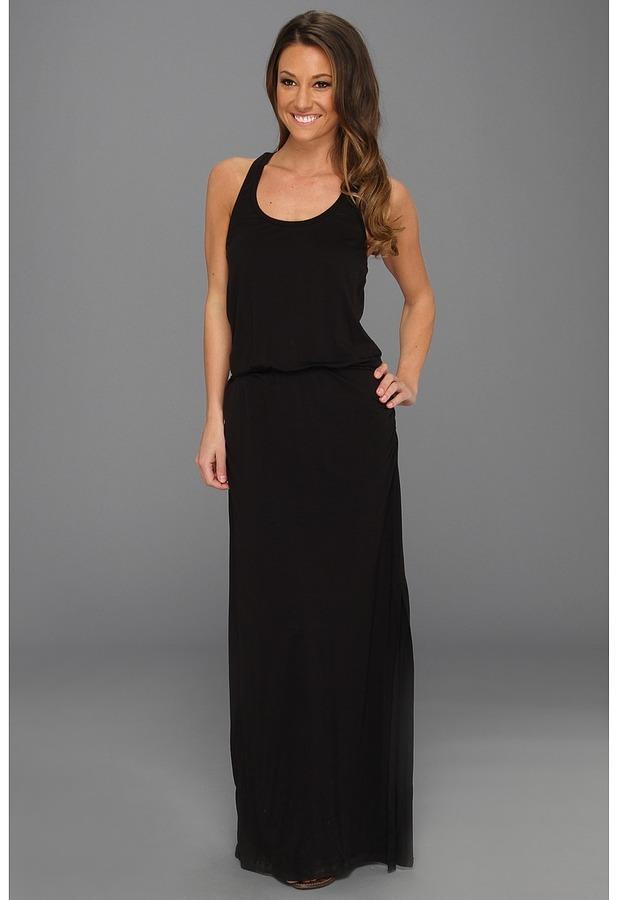 Splendid Maxi Tank Dress (Black) - Apparel