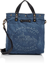 Campomaggi Women's Logo Tote-Blue