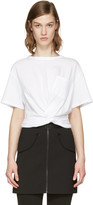 Alexander Wang White Front Twist T-Shirt