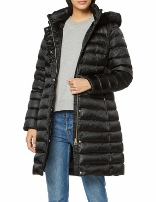Geox Women's Bettanie Long Down Jacket with Hood Outerwear