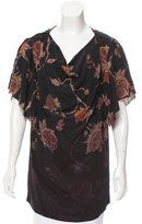 McQ by Alexander McQueen Silk Floral Top