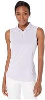 Puma Checker Sleeveless Polo (Sweet Lavender) Women's Clothing