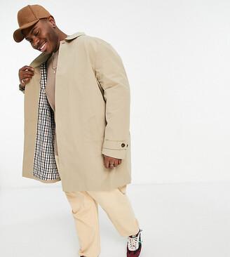 Burton Menswear Big & Tall mac in tan