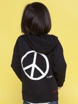 Peace Love World I am Peace Black Toddler California Fleece Hoodie