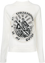 Christopher Kane Saint Christopher sweatshirt - women - Nylon/Polyester/Mohair/Metallic Fibre - M
