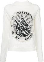 Christopher Kane Saint Christopher sweatshirt - women - Nylon/Polyester/Mohair/Metallic Fibre - S