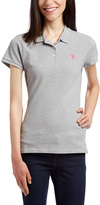 U.S. Polo Assn. Heather Gray & Pink Paradise Solid Polo