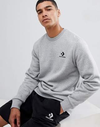Converse Star Chevron Sweatshirt Grey