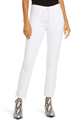 Paige Cindy High Waist Crop Straight Leg Jeans