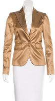 Gucci Silk-Blend Fitted Blazer w/ Tags