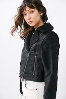 BDG Cozy Combination Moto Jacket