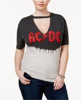 Hybrid Trendy Plus Size Cotton AC/DC Graphic T-Shirt