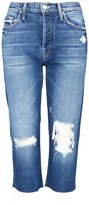 Mother 'Tomcat Knickers' ripped cropped jeans