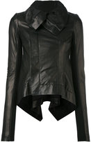 Rick Owens biker jacket - women - Cotton/Lamb Skin - 42