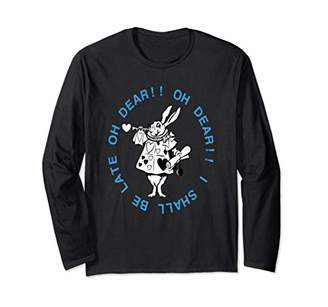 Alice in Wonderland White Rabbit Men Women Gift Long Sleeve T-Shirt