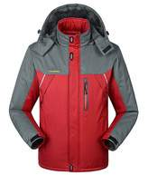HengJia Men's Plus Size Waterproof Mountain Jacket Fleece Lined Windproof Jacket XXXX-Large