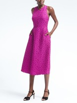 Banana Republic Floral Knit Fit-and-Flare Dress