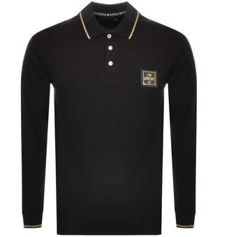 Moschino Love Long Sleeve Polo T Shirt Black