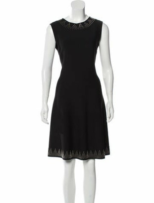 Alaia Embellished Knee-Length Dress Black