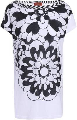 Missoni Mare Printed Cotton And Linen-blend Top