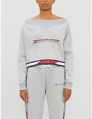 TOMMY SPORT Logo-print stretch-jersey sweatshirt