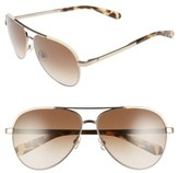 Kate Spade Women's Amarissa 59Mm Polarized Aviator Sunglasses - Beige/ Brown
