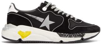 Golden Goose Running Sole Leather Trainers - Mens - Black Multi