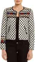 Twelfth Street By Cynthia Vincent Embroidered Silk Jacket