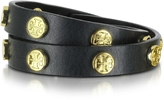 Tory Burch Double Wrap Stud Logo Bracelet