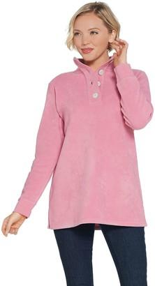 Denim & Co. Fleece Long-Sleeve Tunic with Rib Trim