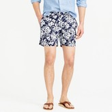 "J.Crew 6.5"" tab swim short in navy Hawaiian floral"