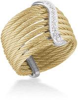 Alor Classique Multi-Row Micro-Cable Ring w/ Pave Diamonds, Size 7