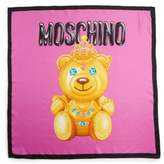 Moschino Women's Bear Print Silk Scarf