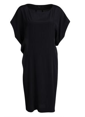 Joseph Black Silk Short Raglan Sleeve Shift Dress M