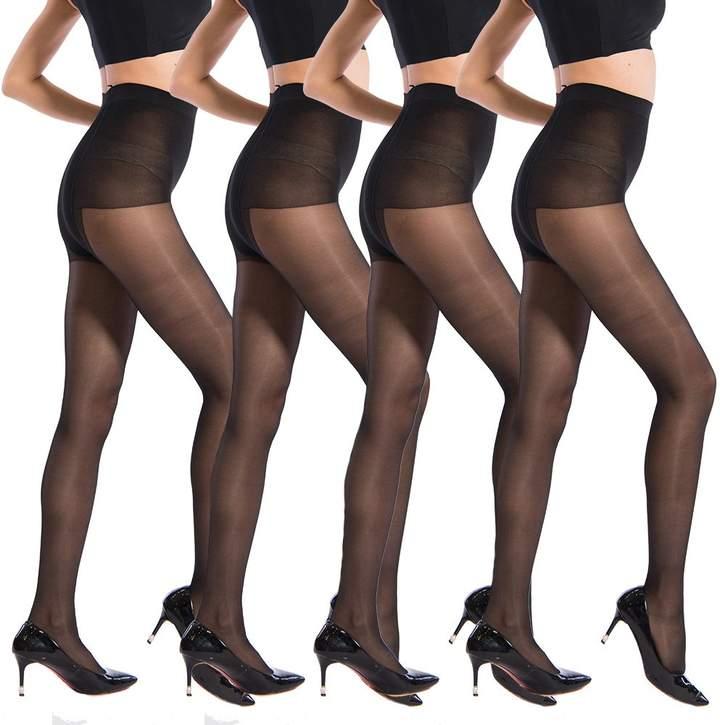 95fdc1e19 Black Sheer Toe Tights - ShopStyle Canada