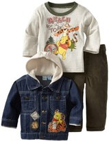 Disney Baby-Boys Infant 3 Piece Winnie The Pooh And Tigger Denim Jacket Set