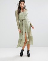 Free People Shine Maxi Dress With Glitter Detailing
