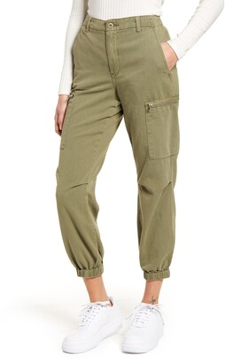 Blank NYC Garment Dyed Twill Cargo Jogger Pants