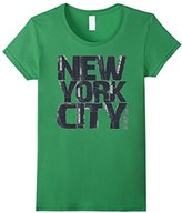 Women's New York City Painted Text Design XL
